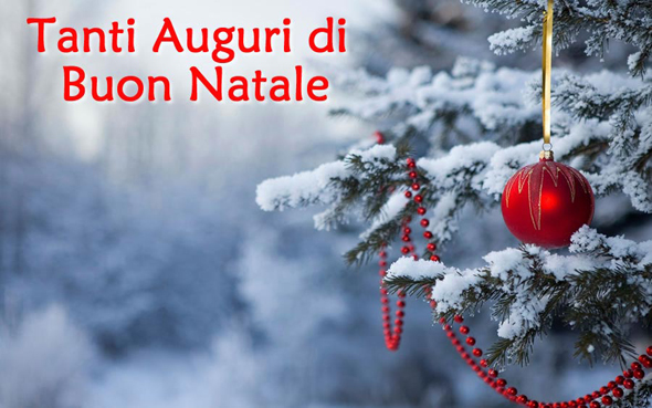 Merry Christmas greetings in Italian