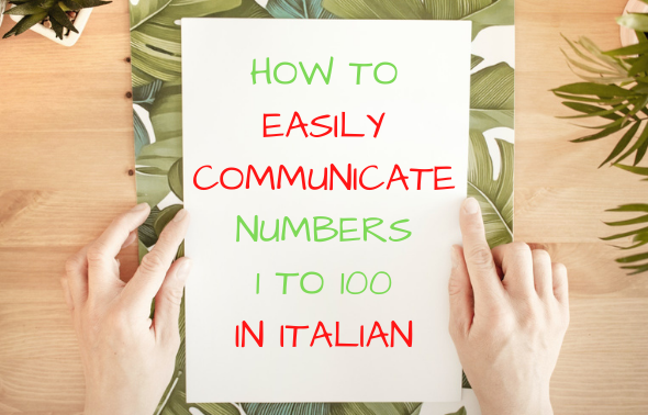 Numbers 1 to 100 in Italian